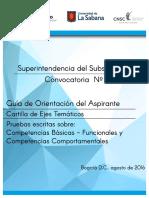 Cartilla de Ejes Tematicos Subsidio Familiar