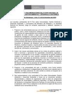 Declaración de Chaclacayo 2010