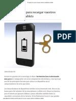 10 Reglas de Oro Para Recargar Vuestros Smartphones y Tablets [UNIVERSAL]