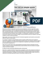 Acelera Firefox Con Un Simple Ajuste [Tutorial]