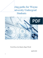 Engineering Paths for Wayne State University Undergrad Students