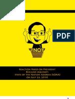 Reaction Paper on Pres. Aquino's 1st SONA