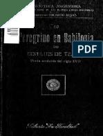 Tejeda, Luis de - Peregrino en Babilonia