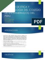 Codigo de Etica y Deontologia Del Colegio Del Peru Oficial