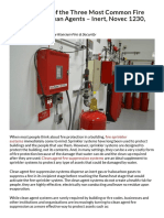 A Comparison of the Three Most Common Fire Suppression Clean Agents