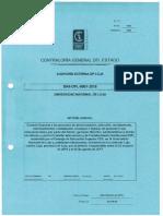 Informe de Contraloría de Universidad Nacional de Loja