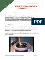 Punto de Imflamacion y Combustion