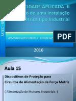 Projeto Instalacoes Eletricas Industriais LAPA - EDSON FATEC 2016 AULA 15