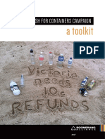 Victorian Cash for Containers Campaign- Boomerang Alliance