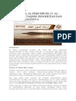 Usul Al-fiqh 15 -Al-sabru Wal-taqsim Pengertian Dan Pengaplikasiannya