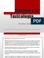 Introducción a La Toxicología