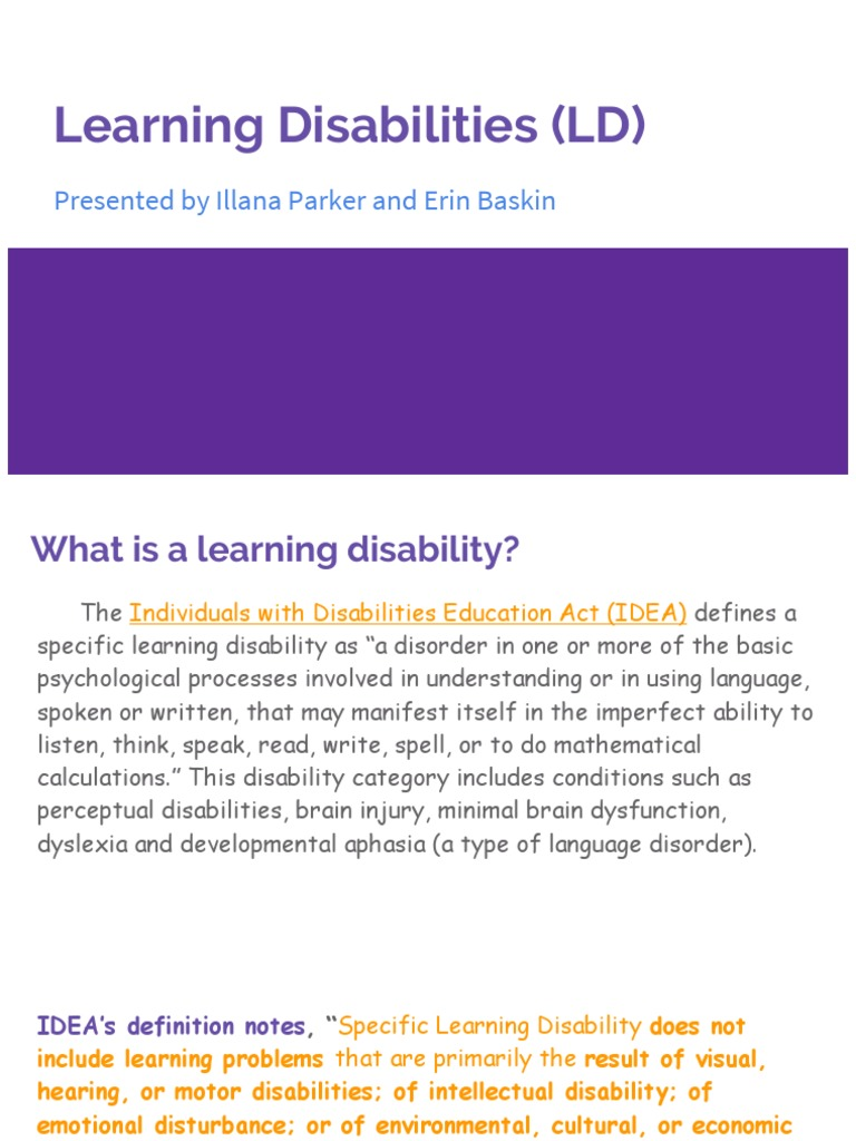 learning disabilities ld | learning disability | dyslexia