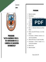 Programa Acto Academico