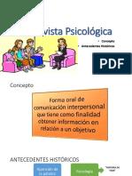 Entrevista Psicológica - Antecedentes