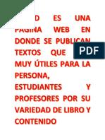 Scribd Es Una Página Web en Donde Se Publican Textos Que Son Muy Útiles Para La Persona