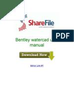 Bentley Watercad User Manual