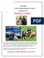 Teekell family fund flyer