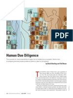 HBR - Human Due Diligence