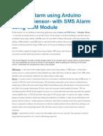 Burglar Alarm Using Arduino and PIR Sensor