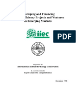 Developing and Financing Energy Efficiency Projects and Ventures in Emerging Markets