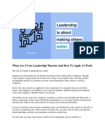 What Are 4 Core Leadership Theories and How to Apply at Work
