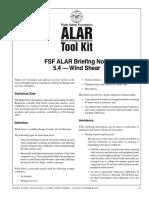 Wind Shear Fsf Aug-nov 2000
