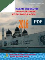 Ringkasan Eksekutif Tinjauan Ekonomi Kota Banda Aceh 2016