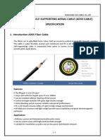 ADSS optic fiber cable 48 G652D core