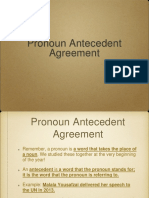 Bellwork Pronoun Antecedent Agreement