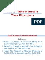 Unit IV (a)- Principal Stresses and Principal Planes in 3D