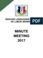2017 1st English Language Meeting Minutes