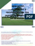 SEPERACION CLASIFICACION Y RECOLECCION DE LOS RESIDUOS GENERADOS EN EL HOGAR.pptx