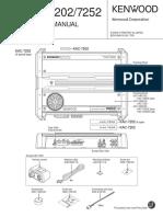 Kenwood KAC 7252 Service Manual