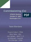 EPWOG Commissioning A