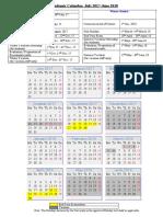 Academic Calendar2017