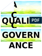 Access Quality Governance Cover