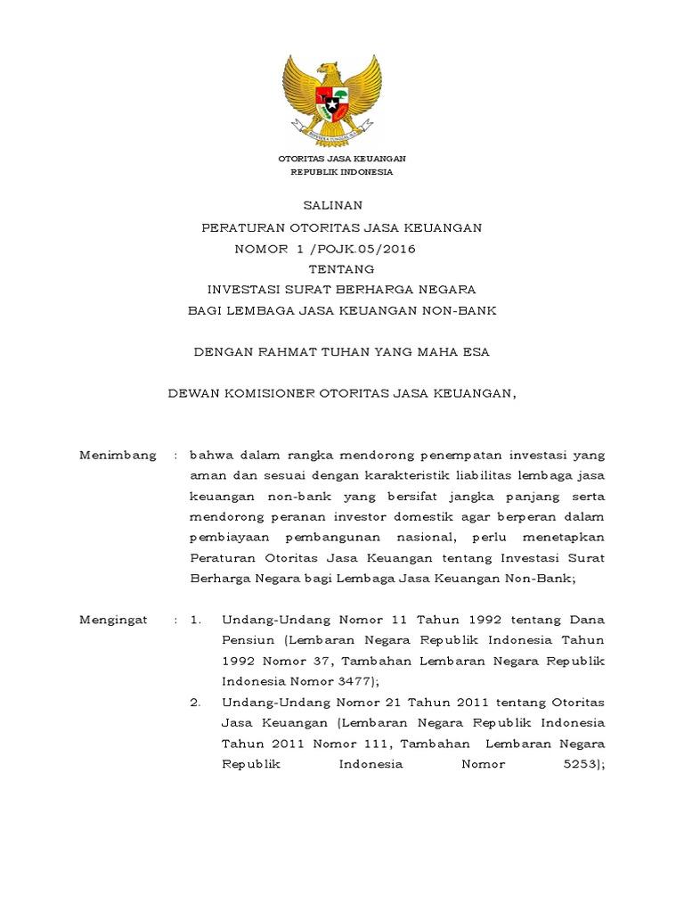 Salinan Pojk Investasi Surat Berharga Negara Bersih