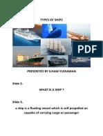 Kelompok 5 - Types of Ships