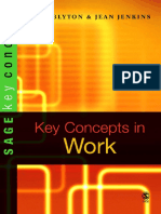 Key Concepts in Work