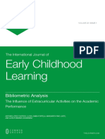 2016 - Bibliometric Analysis the Influence of Extracurricular Activities in the Academic Achievement