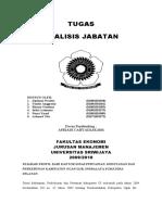 Analisis Jabatan (Studi pada Dinas Pertanian, Kehutanan, dan Perkebunan Kab. Ogan Ilir)