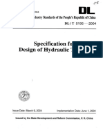 DLT 5195 Specification for Design of Hydraulic Tunnels
