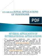 International Applications of Trademark