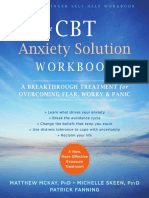 Cbt Anxiety workbook counseling