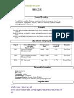 Downloadmela.com BCA Fresher Resume