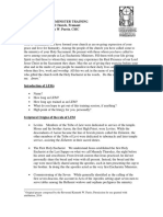 Lay Eucharistic Minister Training Outline 2014