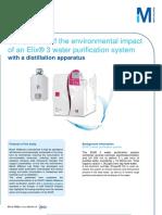 Comparison Environmental Impact Elix - Distillation