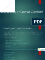 Data Stage course description