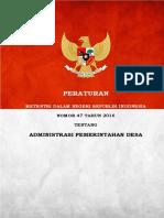 Cover Pemendagri 47 2016