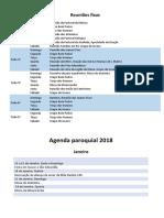 Agenda Paroquial 2018